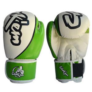 PU handschoenen Hit'em Series groen / wit
